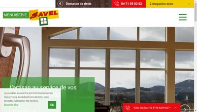 Capture d'écran du site de Menuiserie Savel