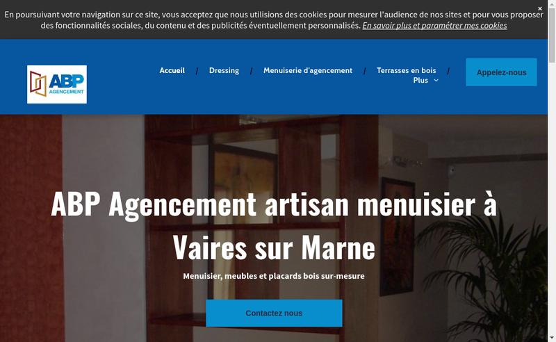 Capture d'écran du site de Abp Agencement