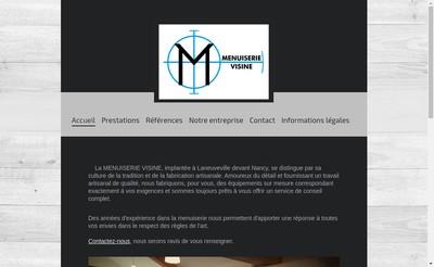 Site internet de Menuiserie Visine