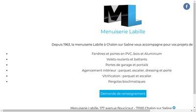 Site internet de Menuiserie Labille