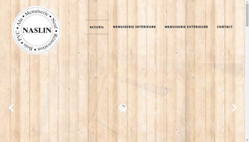 Capture d'écran du site de SARL Naslin