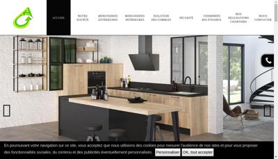 Capture d'écran du site de SARL Mea