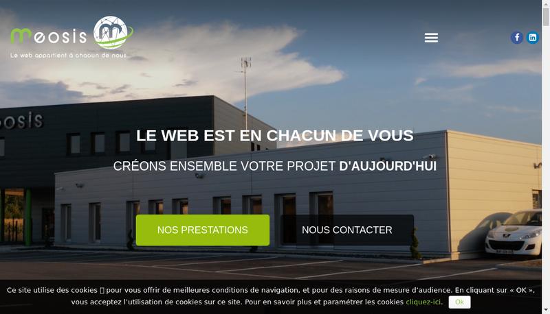 Capture d'écran du site de Meosis