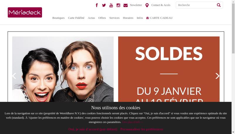 Capture d'écran du site de Pharmacie Meriadeck