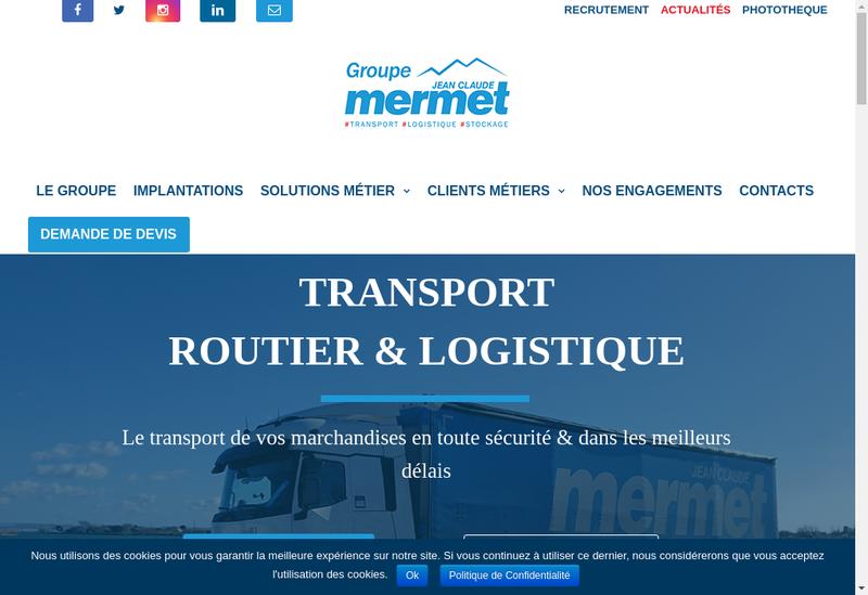Capture d'écran du site de Jean Claude Mermet