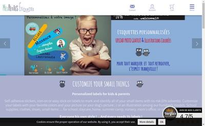 Site internet de Mes Petites Etiquettes