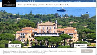Site internet de SA Hotel Chateau de la Messardiere
