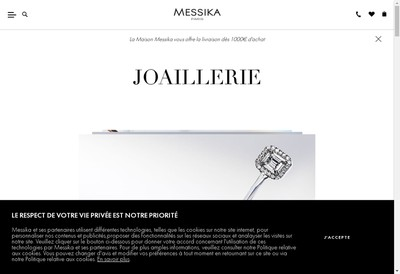 Site internet de Messika Group