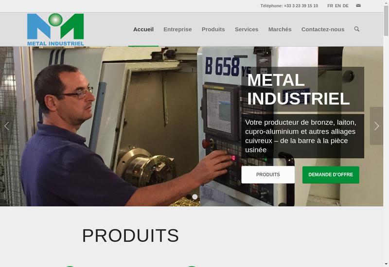 Capture d'écran du site de Metal Industriel