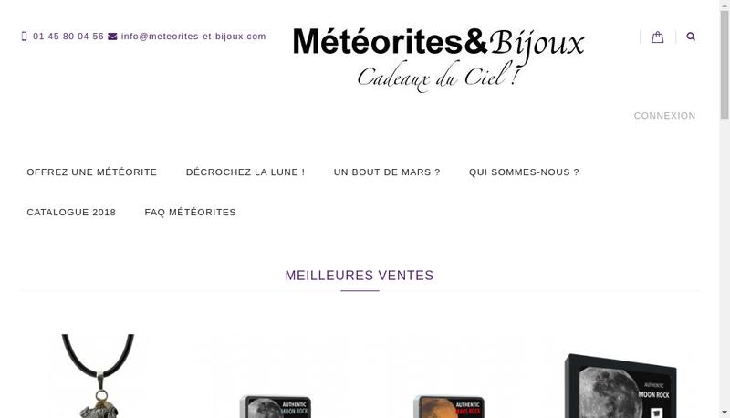 Capture d'écran du site de Labenne Meteorites