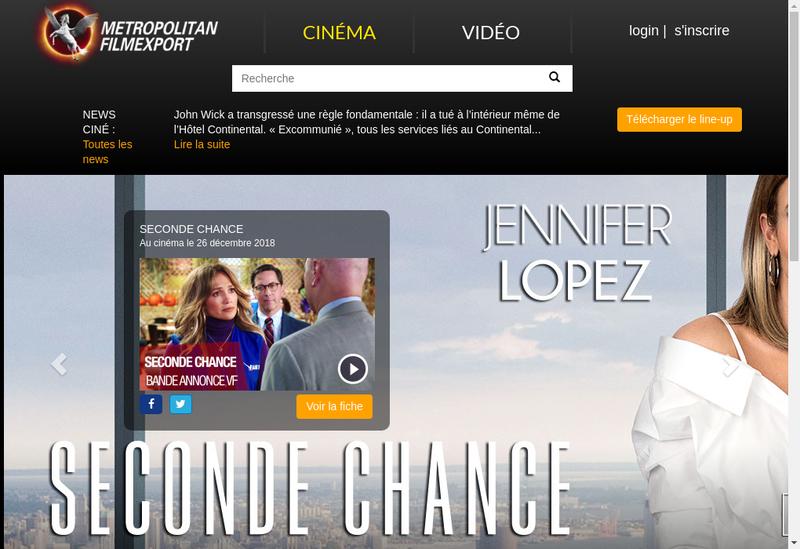 Capture d'écran du site de Metropolitan Filmexport