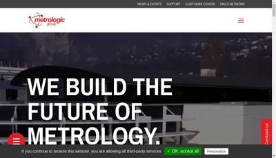 Site internet de Metrologic Group