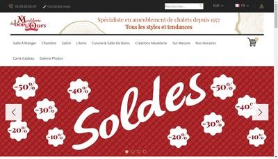 Site internet de Meublerie du Bois de l'Ours