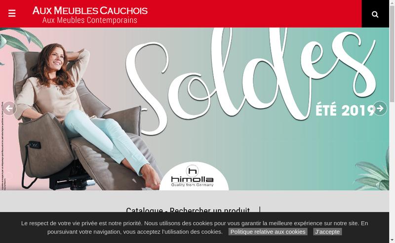 Capture d'écran du site de Aux Meubles Cauchois