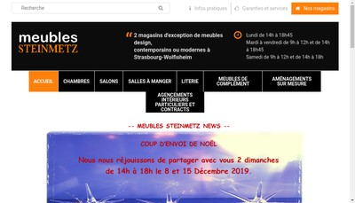 Site internet de Meubles Steinmetz SARL