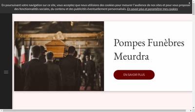 Site internet de Pompes Funebres Meurdra SA