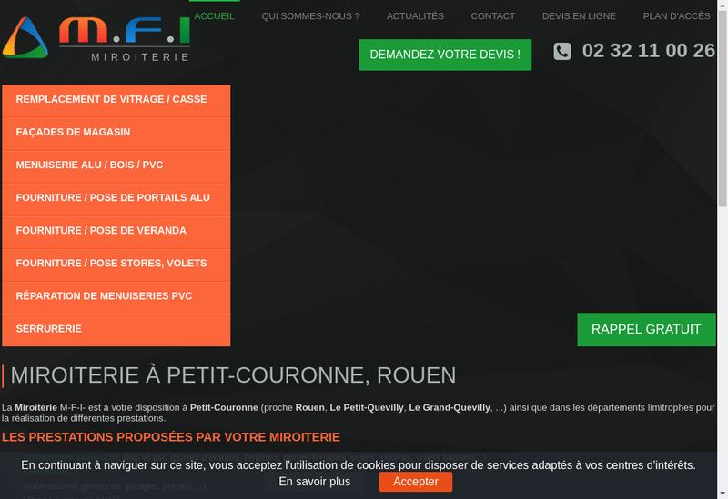 Capture d'écran du site de MFI