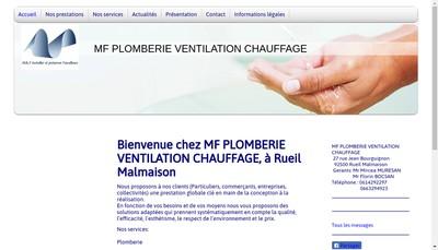 Site internet de Mf Plomberie - Chauffage- Ventilation