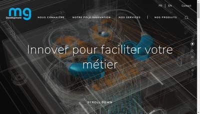 Site internet de Mg Developpement