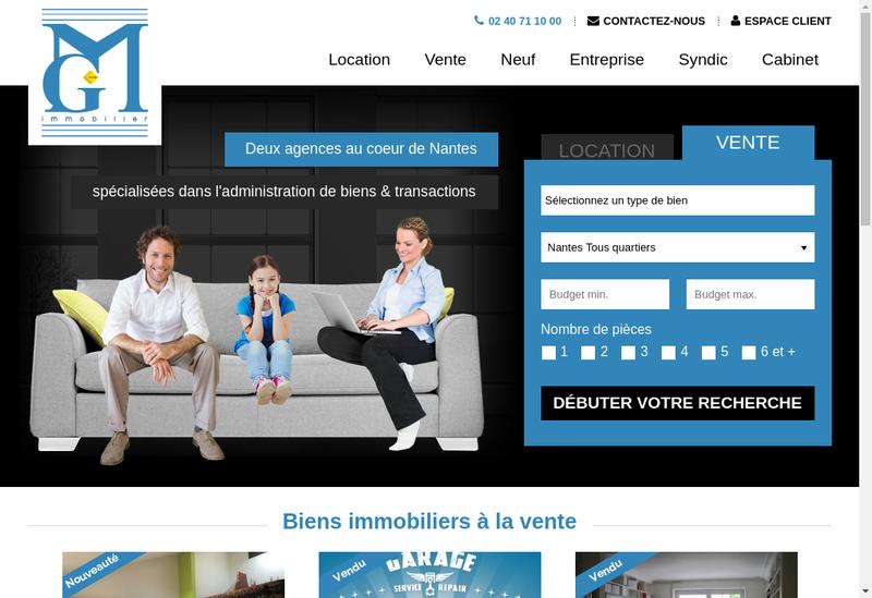 Capture d'écran du site de Mgeffray Immobilier