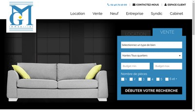 Site internet de Mgeffray Immobilier