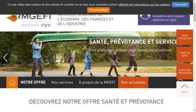 Site internet de Mutuelle Generale de l'Economie des Finances et de l'Industrie