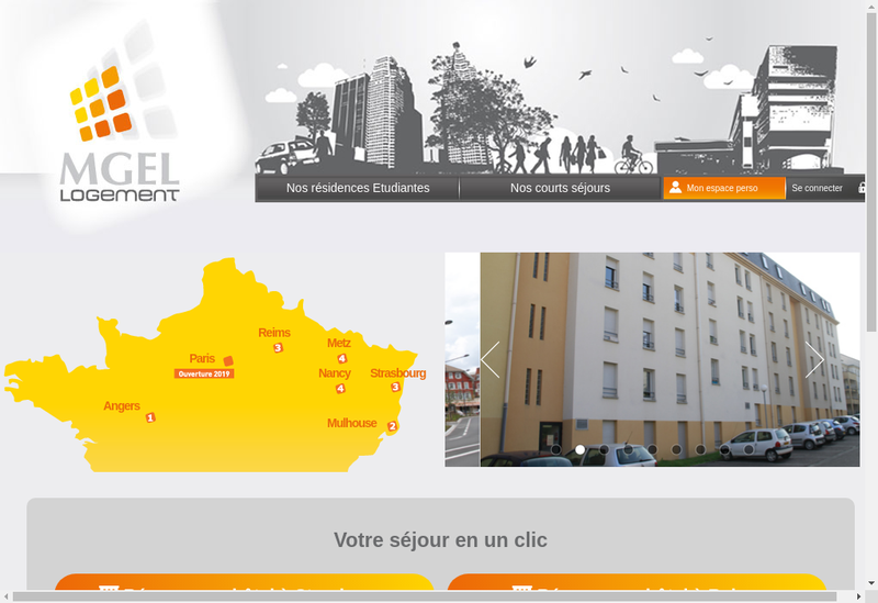 Capture d'écran du site de MGEL Logement