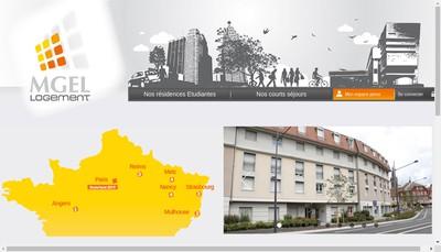 Site internet de MGEL Logement