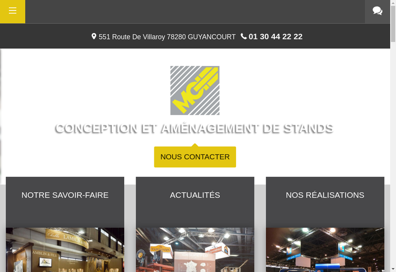 Capture d'écran du site de Modul Gouaslard International Expositi