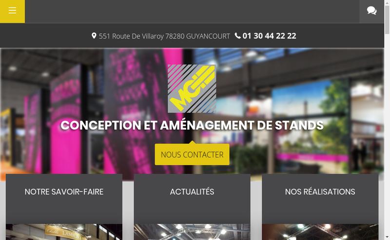 Capture d'écran du site de Modul Gouaslard International Exposition