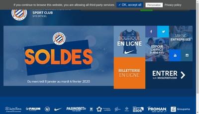 Site internet de Montpellier Herault Sport Club S