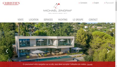 Site internet de Michael Zingraf Real Estate