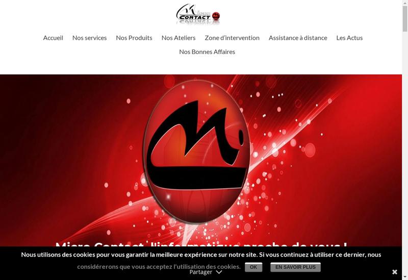Capture d'écran du site de Micro Contact