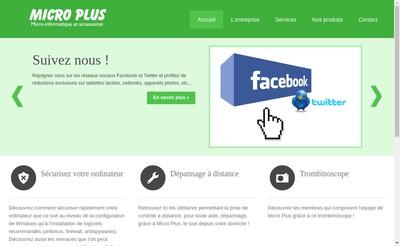 Site internet de Micro Plus