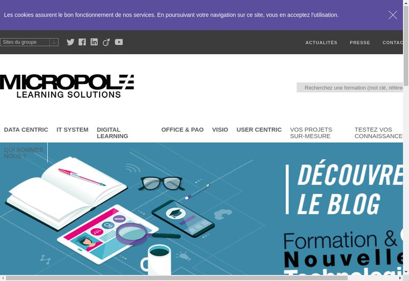 Capture d'écran du site de Micropole Institut