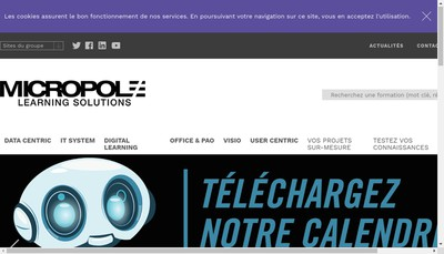 Site internet de Micropole Learning Solutions