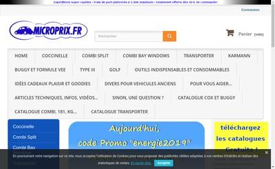 Site internet de Microprix