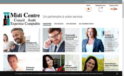 Site internet de Cabinet de Conseils Associes Midi-Centre