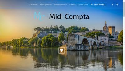 Site internet de Midi Compta Associes