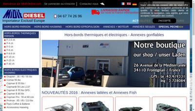 Capture d'écran du site de Midif