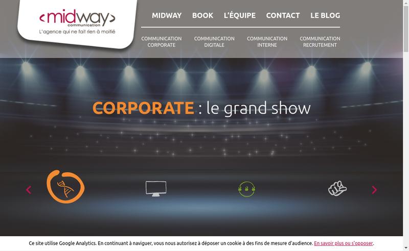 Capture d'écran du site de Midway Communication