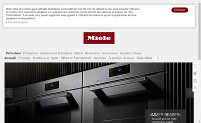 Site internet de MIELE