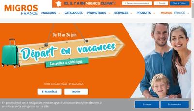 Site internet de Migros France
