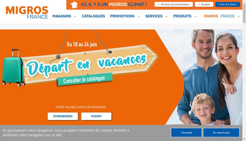 Capture d'écran du site de Migros France