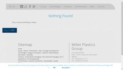 Site internet de Millet Plastics Group