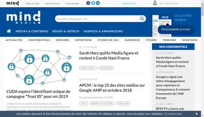 Capture d'écran du site de Frontline Media