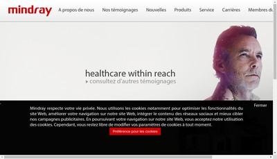 Site internet de Mindray Medical France SARL