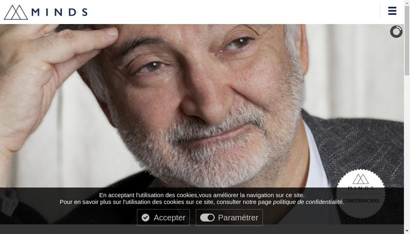 Capture d'écran du site de Minds Agency
