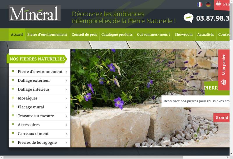 Capture d'écran du site de La Pierre Naturelle
