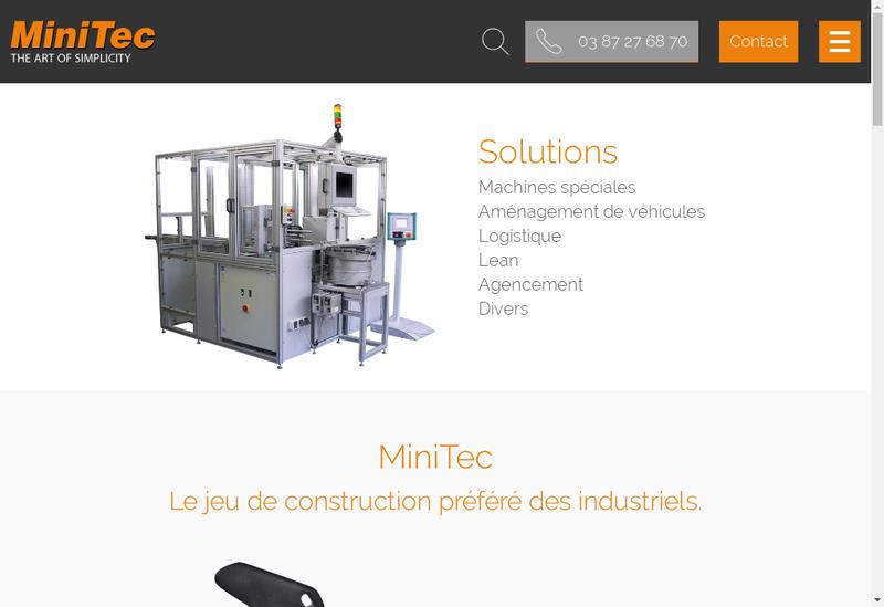 Capture d'écran du site de Minitec